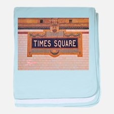 Times Square Subway Station baby blanket