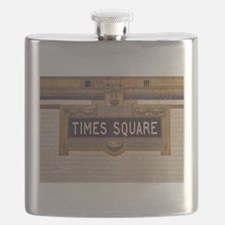 Times Square Subway Station Flask