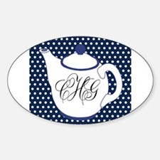Personalizable Teapot Monogram Decal