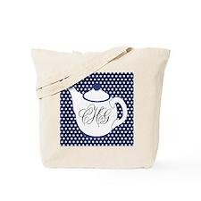 Personalizable Teapot Monogram Tote Bag