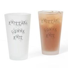 Cool Knitters Drinking Glass
