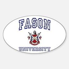 FASON University Oval Decal