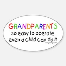 Grandparents Oval Decal