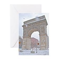 Greenwich Village: Washington Sq. Arch in Winter G