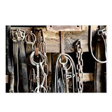 Horse Tack Postcards (package Of 8)