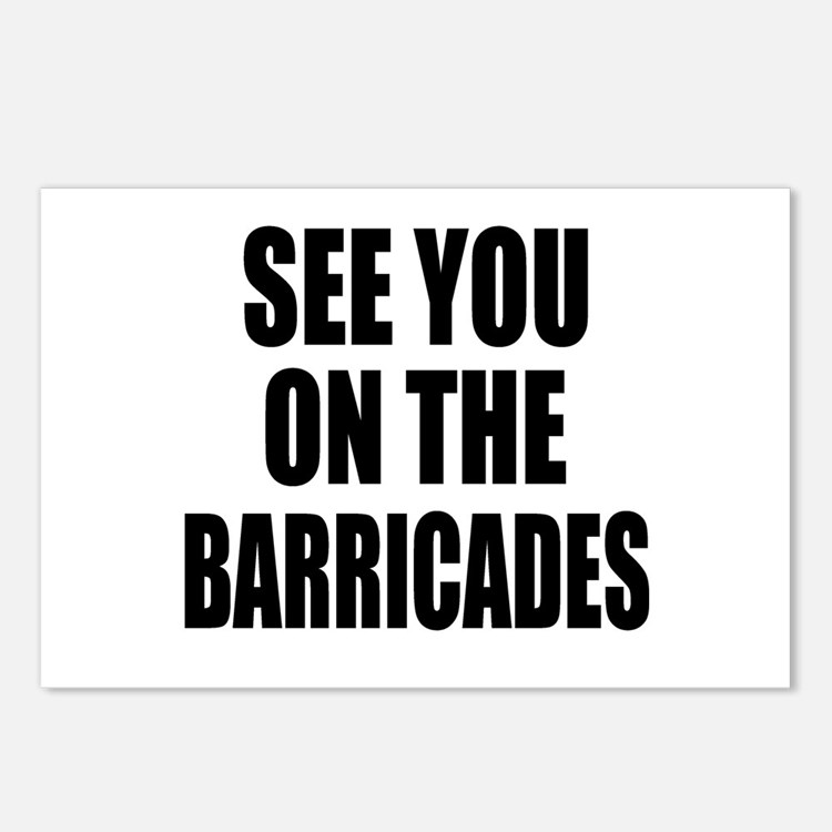 See You on the Barricades Postcards (Package of 8)