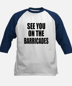 See You on the Barricades Kids Baseball Jersey