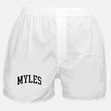MYLES (curve-black) Boxer Shorts