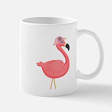 Pink Flamingo in Pink Hat Mugs