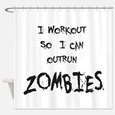 Outrun Zombies 2 Shower Curtain
