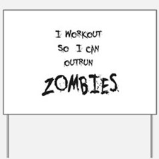 Outrun Zombies 2 Yard Sign