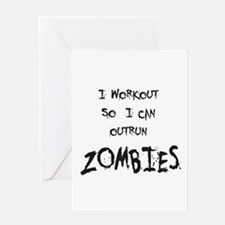 Outrun Zombies 2 Greeting Cards