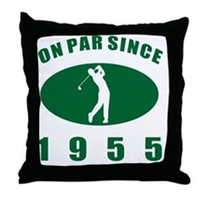 1955 Golfer's Birthday Throw Pillow