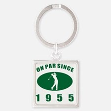 1955 Golfer's Birthday Square Keychain
