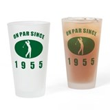 60th birthday golf Pint Glasses