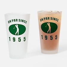 1955 Golfer's Birthday Drinking Glass