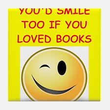 books Tile Coaster