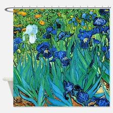 Van Gogh Garden Irises Shower Curtain