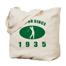 1935 Golfer's Birthday Tote Bag