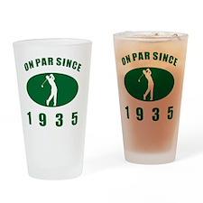 1935 Golfer's Birthday Drinking Glass