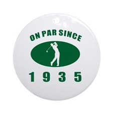 1935 Golfer's Birthday Round Ornament