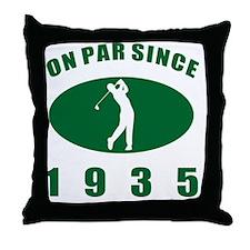 1935 Golfer's Birthday Throw Pillow