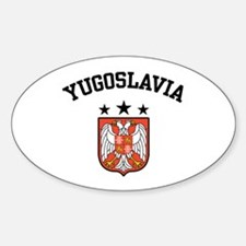 Yugoslavia Coat of Arms Oval Decal