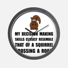 Decision Making Squirrel Wall Clock
