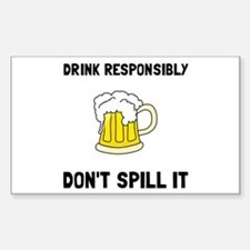 Drink Responsibly Decal