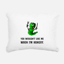 Hangry Monster Rectangular Canvas Pillow