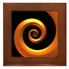 Gold/Black Spiral Framed Tile