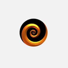 Gold/Black Spiral Mini Button