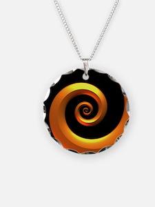 Gold/Black Spiral Necklace