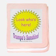 Grampa's Sunshine Girl baby blanket