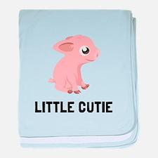Little Cutie Pig baby blanket