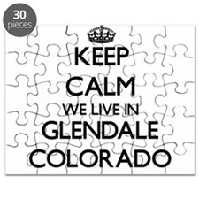 Keep calm we live in Glendale Colorado Puzzle