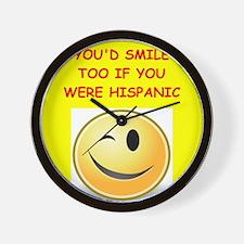 hispanic Wall Clock