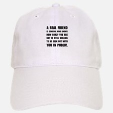 Real Friend Crazy Baseball Baseball Baseball Cap