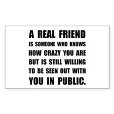 Real Friend Crazy Decal