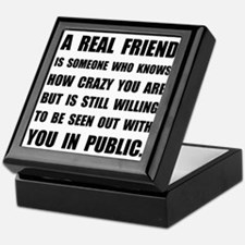Real Friend Crazy Keepsake Box