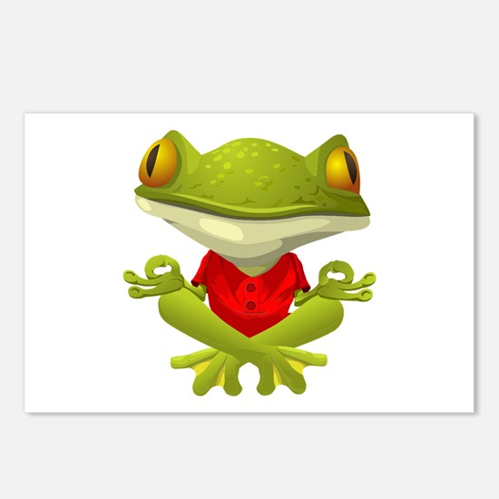 Yoga Frog Postcards (Package of 8)