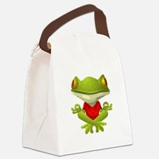 Yoga Frog Canvas Lunch Bag
