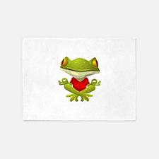 Yoga Frog 5'x7'Area Rug