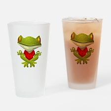 Yoga Frog Drinking Glass