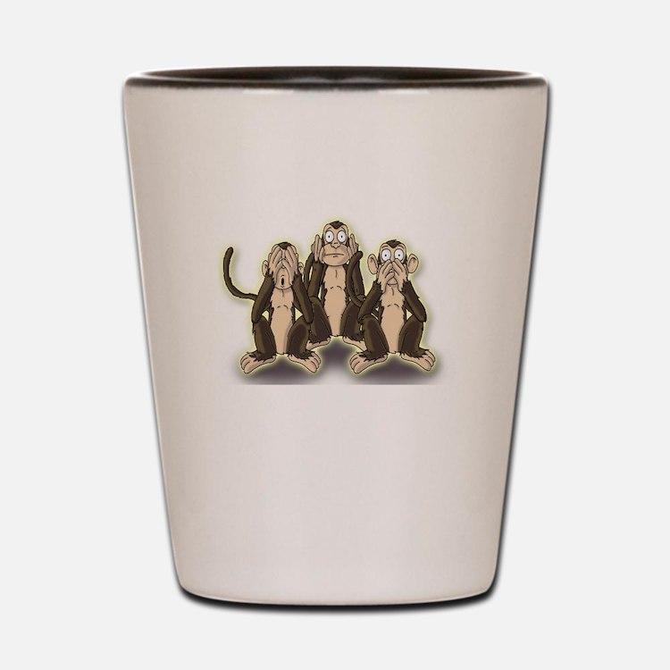 Hear Speak See No Evil - Monkeys Shot Glass