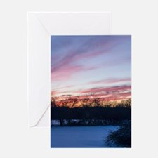 Winter Sunset Greeting Cards
