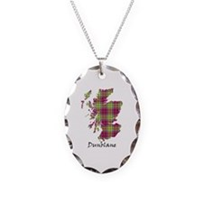 Map - Dunblane dist. Necklace Oval Charm