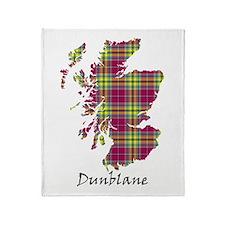 Map - Dunblane dist. Throw Blanket