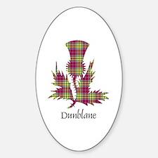 Thistle - Dunblane dist. Sticker (Oval)