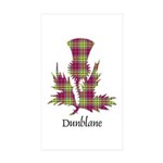 Thistle - Dunblane dist. Sticker (Rectangle 10 pk)